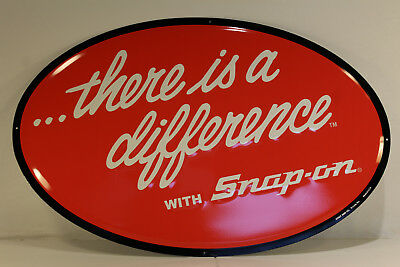 Snap On Tools Metal Shop Sign There Is A Difference With Snap On Tools Embossed