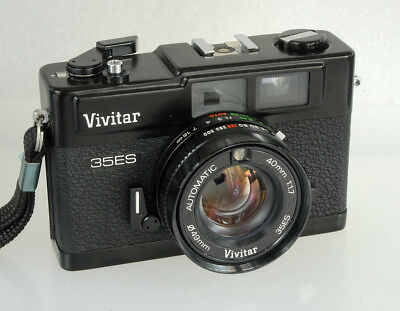 Vivitar 35ES 35mm Rangefinder, F/1.7 Lens, Case, Manual, All Working Near Mint