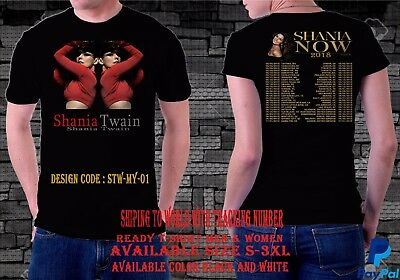 Shania Twain Tour 2018 T-Shirt Men & Women Available Size S-3Xl,black & White