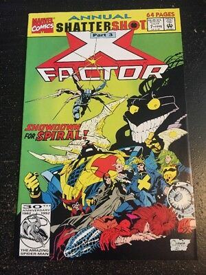 X-factor Annual#7 Incredible Condition 9.0(1992) Spiral Battle!!