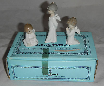 Lladro Mini Angelitos 1.604 Set Of 3 Mini Angels