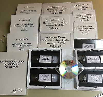 Jay Abraham Master Mind Training Set w/Bonuses Audiotapes, Books, VCR, CD