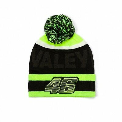 2017 OFFICIAL Moto GP Valentino Rossi VALE YELLOW 46 Beanie Bobble Hat – NEW