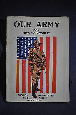 1918 *WW1/RARE* Our Army & How to Know It, Our Navy & How to Know It (2 in 1)