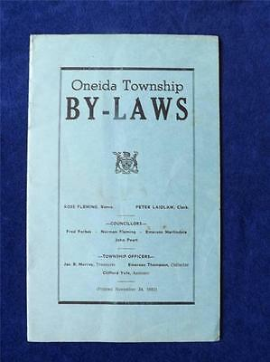 Oneida Township By-Laws Booklet Canada November 24 1951