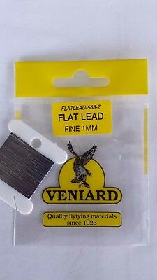 "VENIARD FLAT LEAD "" FINE 1mm ""     FLY TYING  Wet , Streamer"