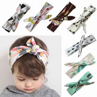 DIY Baby Girls Floral Fruits Animals Scandi Geo Bow Knot Hair Headband Headwrap
