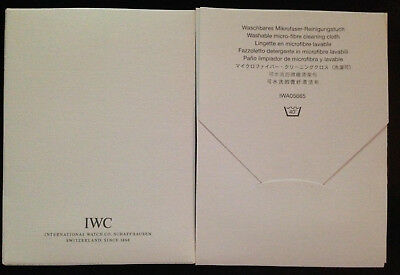 Original IWC Mikrofaser - Reinigungstuch Neu! IWC micro - fibre cleaning cloth