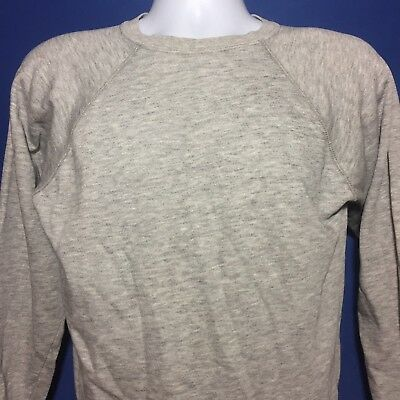 VTG 1980s Soft Thin Distressed Blank Grey Sweatshirt 80s *M