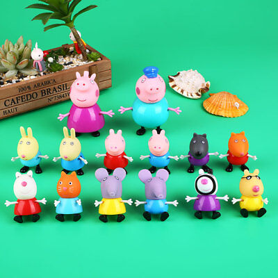 12PCs/Lot Peppa Pig Suzy Emily Danny Rebacca Pigs Action Figure Toys Gifts