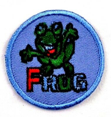 iron-on patch appliqué 12-064 Frog