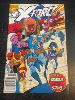 X-force#8 Incredible Condition 8.5(1992) Mignola Art,Liefeld Cover!