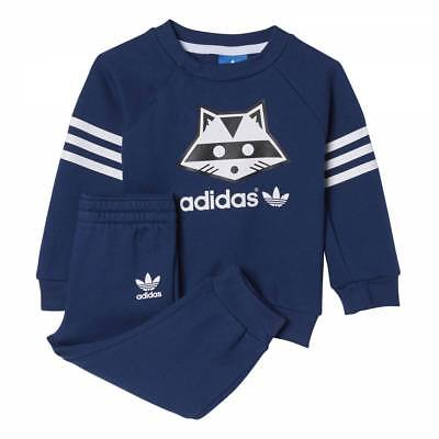 Adidas Infant Racoon Full Tracksuit Baby Kids Children Jogger Full Set Gift-Set