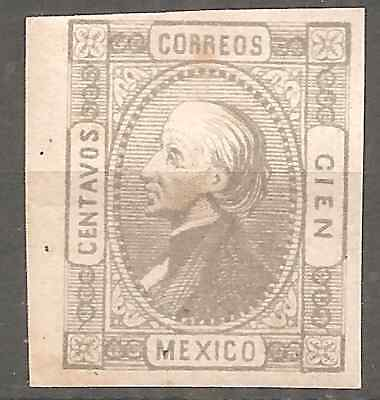 MEXICO OLD CLASSIC Pdt MIGUEL HIDALGO MLH* FINE FULL GUM 2 SCANS (POINTS OF RUST