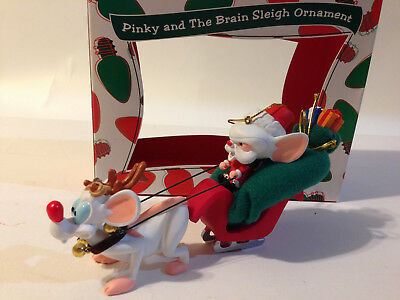 Pinky and The Brain Sleigh Ornament Christmas