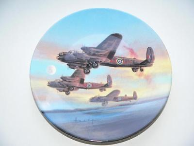 Royal Worcester The Take Off  Dambusters Wilfred Hardy Collectors Plate WWII RAF
