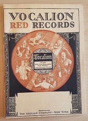 1923 Vocalion Red Records Catalog, Aeolian Company, New York, Booklet
