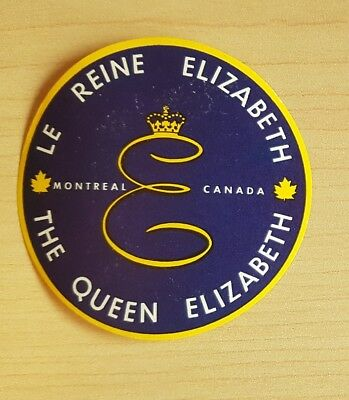 Original Vintage The Queen Elizabeth Hotel Montreal Canada Luggage Label