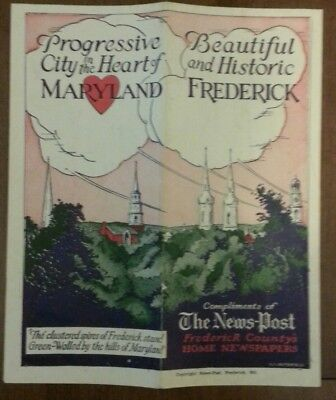 1930's Frederick City in the Heart of MARYLAND Brochure