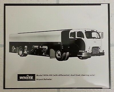 White 3000 Airport Refueler Truck Vintage Photograph Model 3026-Oh