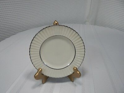 Sterling Silver Overlay Lenox Citation Platinum Porcelain Tea Cup Saucer Plate