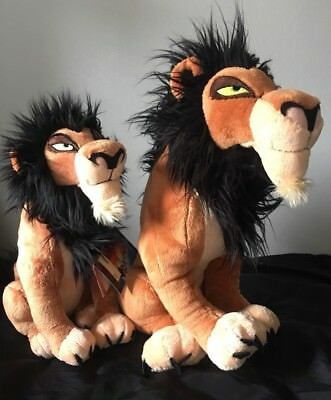 "Disney Lion King Large 18"" USA Version Scar Plush Soft Toy Stamped"