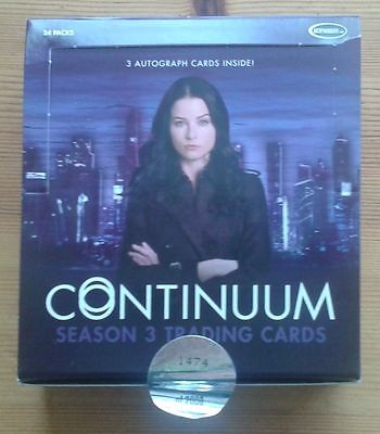 Continuum Season Three 3 empty trading card box (no cards or wrappers)