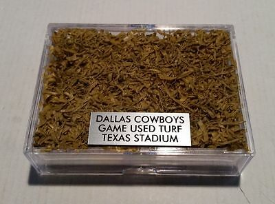 Dallas Cowboys Game Used Yellow Turf with Display Case and Nameplate - Rare