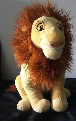 "Large Lion King Adult Simba Mufasa Disney Store Genuine Plush 18"" Stamped"