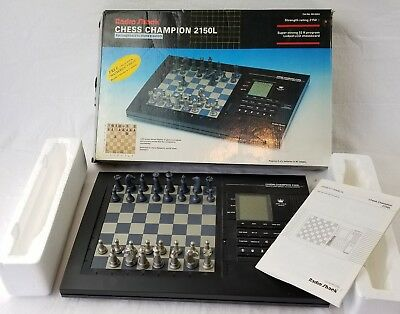 vintage radio shack chess champion 2150L electronic game boxed MISSING 1 PIECE