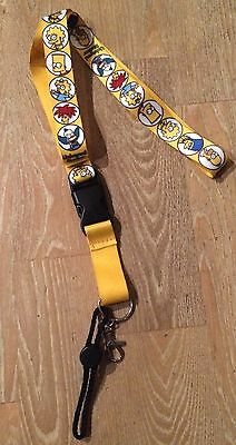 """The Simpsons Universal Studios 25"""" Lanyard Key Chain Disconnect Yellow w/ Family"""