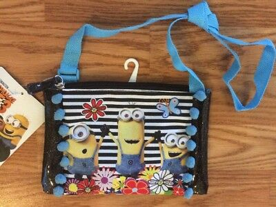 Minion Despicable Me 3 Messenger Bag Girls Purse Zip-Up Shoulder NEW With TAGS