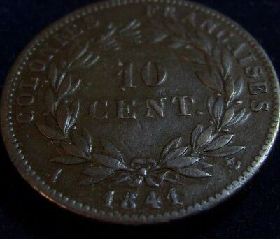 Guadeloupe 10 Centimes Louis Philippe I 1841
