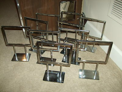 """Lot of 10  Chrome Plated Steel Counter Display Retail Stands- 10""""x 7-1/2"""""""