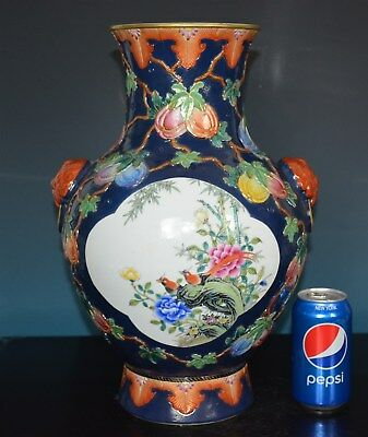 Stunning Antique Chinese Famille Rose Porcelain Vase Marked Qianlong Rare K9887