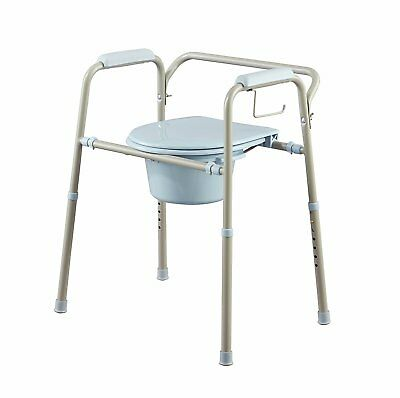 Adult Commode Chair Toilet Support Seat Portable Bedside Bathroom Potty Bucket--