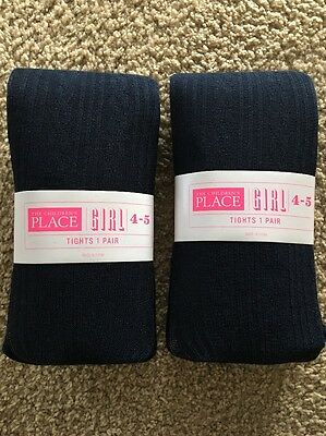 The Childrens Place Girls Tights Pack Of 2 Color Tidal Size 4-5 NWT
