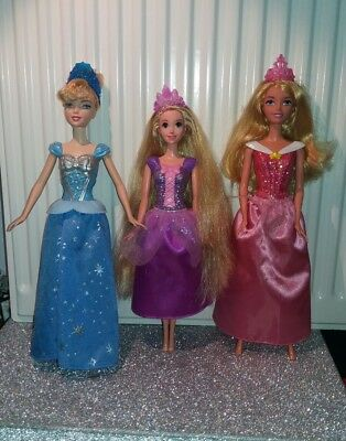 Disney Doll Bundle Cinderella Aurora Sleeping Beauty Ralunzel Tangled