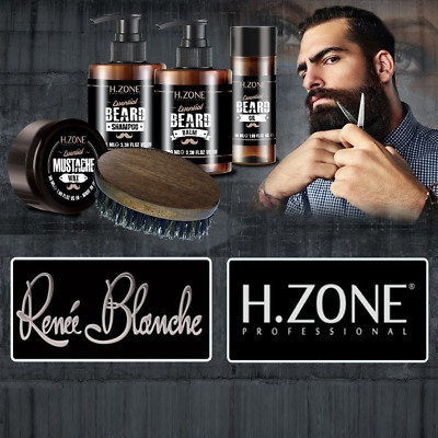 Kit Barbe et Moustaches H-Zone Essential Beard - Renèe Blanche - NEUF
