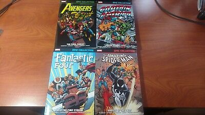 Marvel EPIC Collection TPB Lot of 4 Avengers, Captain America, Spider-Man F4 NEW