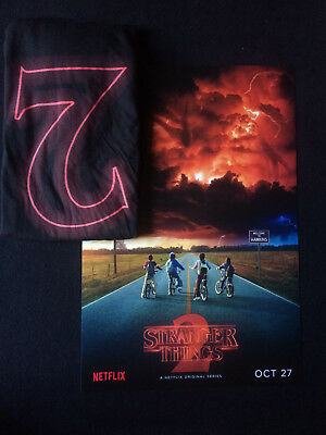 SDCC 2017 STRANGER THINGS lot shirt poster Comic Con exclusive promo Netflix