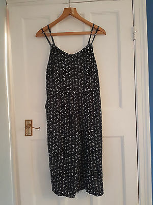 vintage 90s style Culottes playsuit jumpsuit approx uk 10 12 14 grunge ditsy