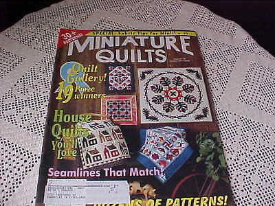 Miniature Quilts Publications 14 Total Issues 21 to 27 1996 1997 14 to 20 1994
