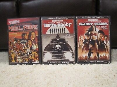 Grindhouse TripleFeature Planet Terror and Death Proof and Hell Ride