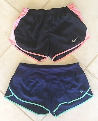 Lot Of 2 Nike Dri Fit And PINK Victoria's Secret Running Workout Gym Shorts
