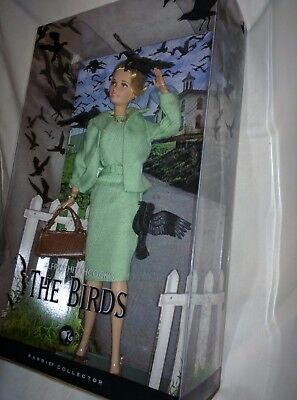 ALFRED HITCHCOCK THE BIRDS Black Label Barbie Doll TIPPI HEDREN NRFB 2008 NEW