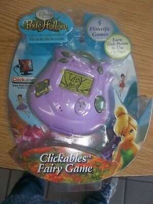 NIP 2008 Disney Fairies Tinkerbell Clickables Fairy Handheld Electronic Game