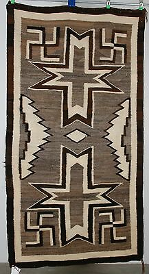 Early Navajo rug, blanket Native American textile weaving Crystal Whirling log