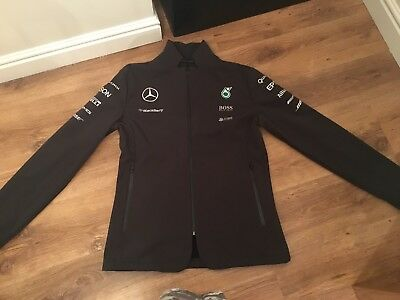 Official Mercedes Petronas AMG Black Soft Shell Jacket