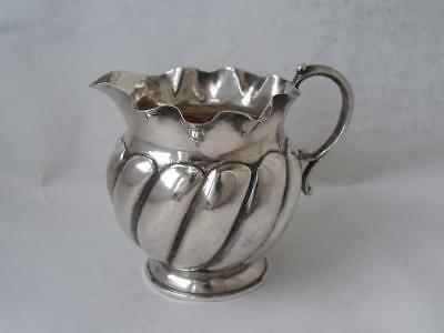 Pretty Antique Solid Sterling Silver Cream Jug 1890/ H 6.8 cm